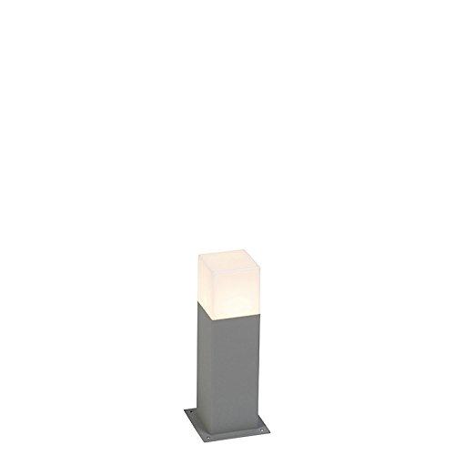 QAZQA Modern Moderne AußenStehleuchte/Stehlampe/Standleuchte/Lampe/Leuchte 30 cm grau IP44 - Dänemark/Außenbeleuchtung Aluminium/Kunststoff Würfel/Quadratisch/Rechteckig/Länglich LED gee