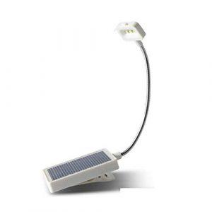 LinkLvoe Solar Table Lampusb Schreibtischlampe Portable Clip Desk Kann Gebucht Werden, Solarladung Ist Nicht Wasserdicht, Zum Lesen Und Schreiben Geeignet