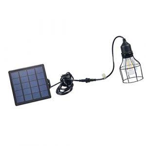 perfeclan Solar Hängelampe/Pendeleuchte/Außenlampe mit Solar Panel und Zugschnur & Zeit Einstellung, umweltfreundlich – B#