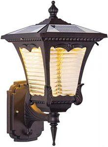 Solar LED Außen-Wandleuchte Rustikale Solarleuchte Antik Retro Wandlampe IP65 Wasserdichte Vintage Außenlampe für Balkon Treppen Terrasse Garten
