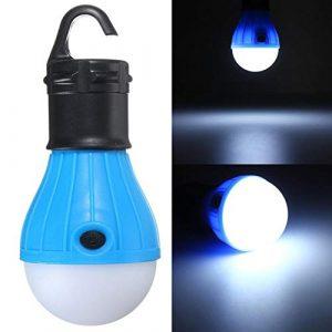 Nuofake Outdoor-bewegliche hängende LED-Camping-Zelt-Glühlampe Wandern Angeln Laterne Nachttischlampe Patio Beleuchtung (Farbe : Blue)