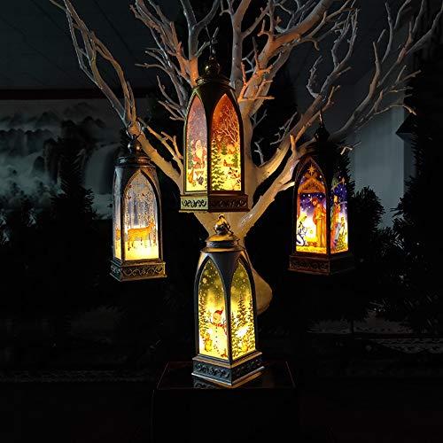 Abgail Weihnachten Aussenleuchten - Kreative Painted Wind Helle Dekoration Weihnachtsdekoration Indoor Tischlampe Weihnachten Bogen Kleine Wind Pendelleuchte Weihnachtsgeschenk (Color : 4pc)