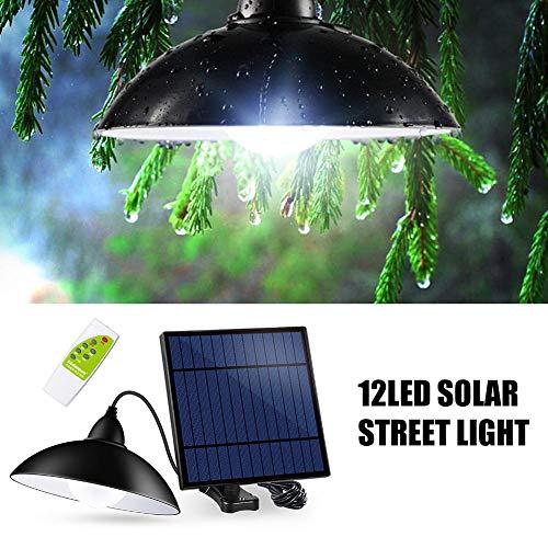 PoeticHouse 12LED Solar Pendelleuchten Hof Straße Beleuchtung Innenkorridor Beleuchtung Hohe Helligkeit Fernbedienung Solar Decke Kronleuchter Pendelleuchten