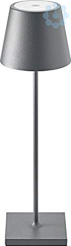 SIGOR dimmbare LED-Akku-Tischleuchte für Garten und Terrasse 180 Lumen, 9 Stunden Laufzeit ohne Kabel Nuindie, anthrazit