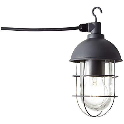 Außenpendelleuchte mit Zuleitung, 1x E27 max. 60W, Metall/Glas, anthrazit