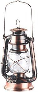 Lunartec Sturmlaterne: Dimmbare LED-Sturmlampe mit Akku, Bronze, 30 Lumen, 1,2 Watt (Petroleumlampe LED dimmbar)