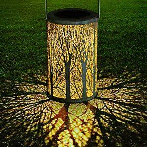 Ourine Led Solar Baum Blätter Projektionsleuchte Solar Laterne Ip44 Wasserdichte Gartendekor Nacht Hängelampe